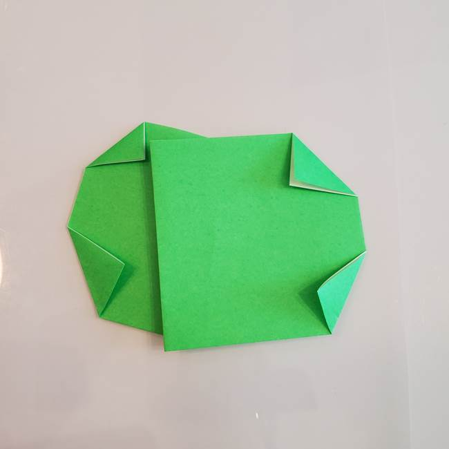 梨の折り紙 簡単な折り方作り方①折り方(7)