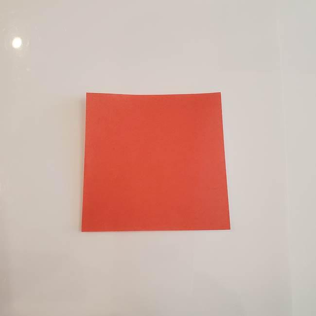 梨の折り紙 簡単な折り方作り方②ヘタ(1)