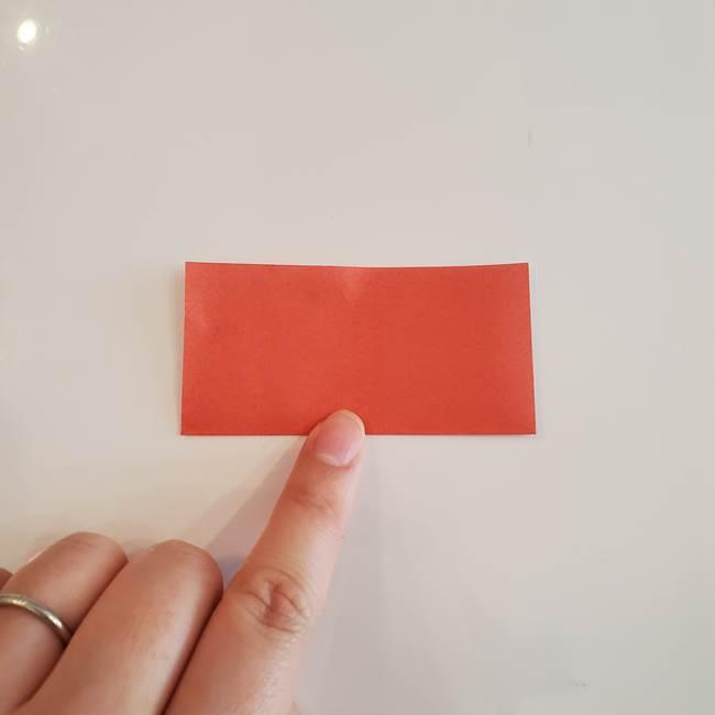梨の折り紙 簡単な折り方作り方②ヘタ(2)