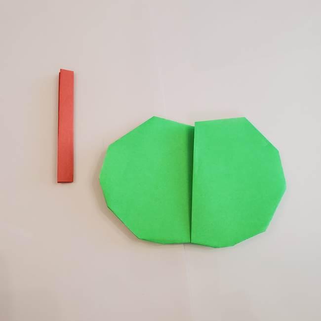 梨の折り紙 簡単な折り方作り方②ヘタ(5)