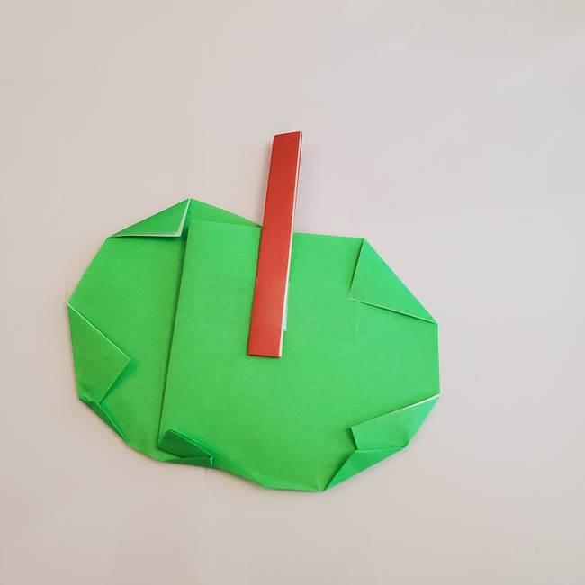 梨の折り紙 簡単な折り方作り方②ヘタ(6)