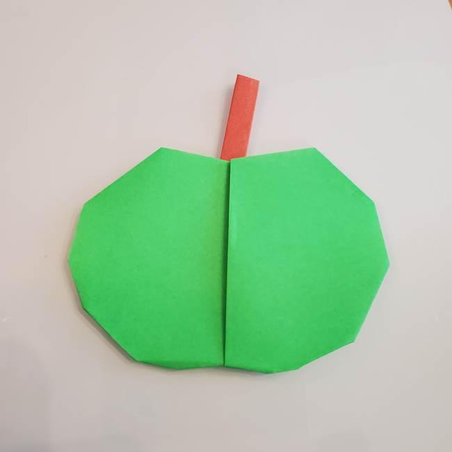 梨の折り紙 簡単な折り方作り方②ヘタ(7)