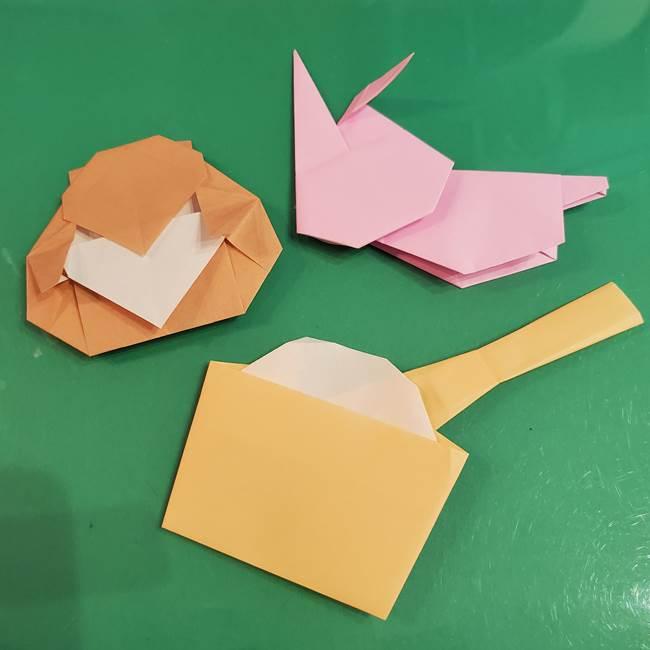 臼と杵の折り紙は9月十五夜や1月お正月にピッタリの制作♪