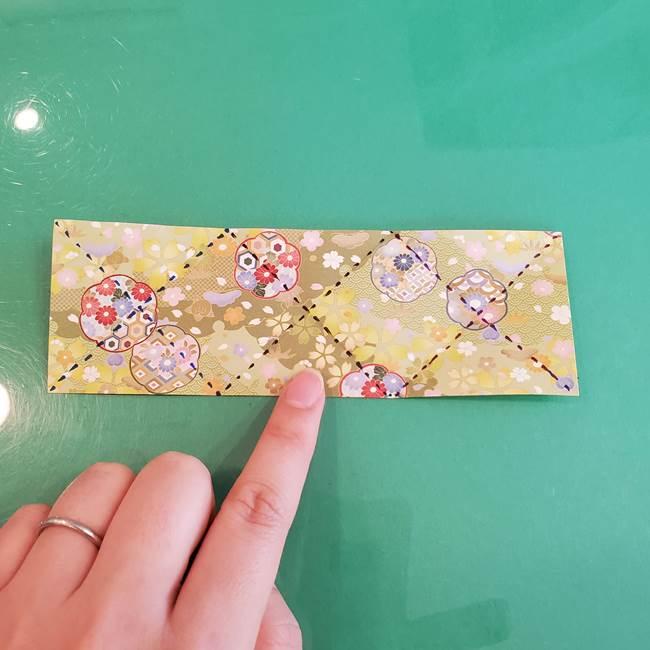 連鶴 稲妻の折り方作り方①折り紙を用意する(10)