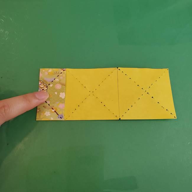 連鶴 稲妻の折り方作り方①折り紙を用意する(12)