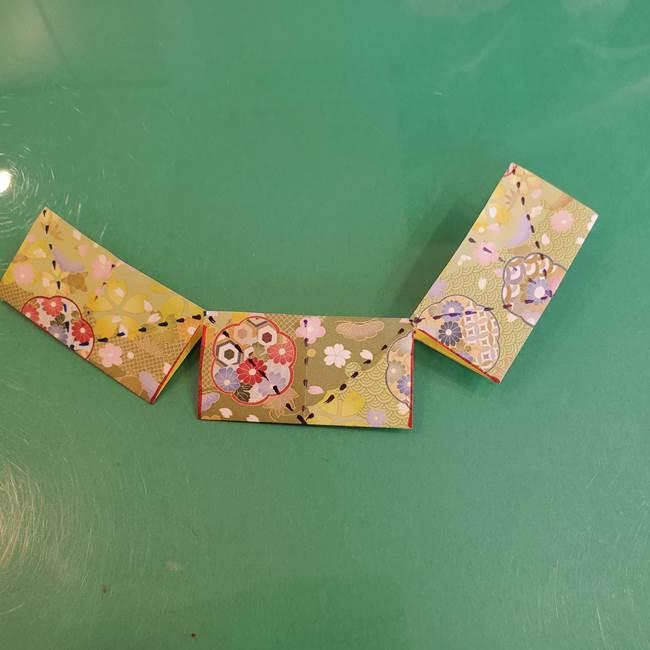 連鶴 稲妻の折り方作り方①(19)