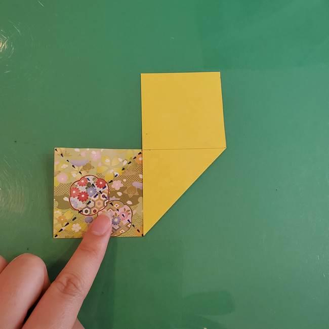 連鶴 稲妻の折り方作り方①折り紙を用意する(7)
