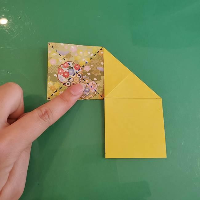 連鶴 稲妻の折り方作り方①折り紙を用意する(8)