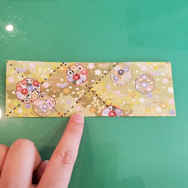 連鶴 稲妻の折り方作り方①折り紙を用意する(9)