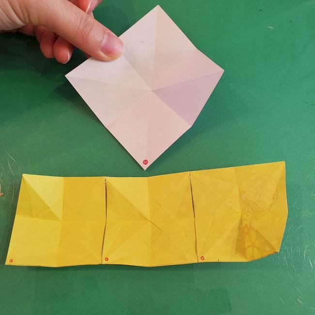 連鶴 稲妻の折り方作り方②折り紙を折っていく(1)