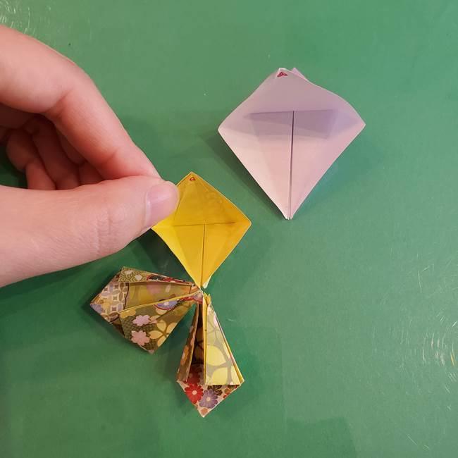 連鶴 稲妻の折り方作り方②折り紙を折っていく(12)