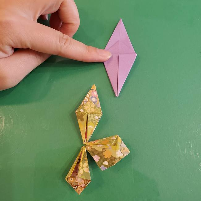 連鶴 稲妻の折り方作り方②折り紙を折っていく(14)