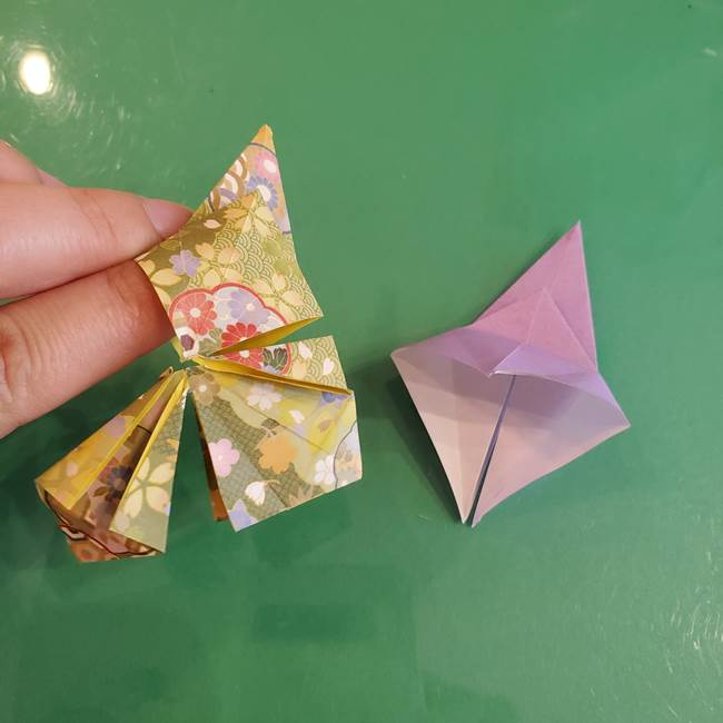 連鶴 稲妻の折り方作り方②折り紙を折っていく(15)