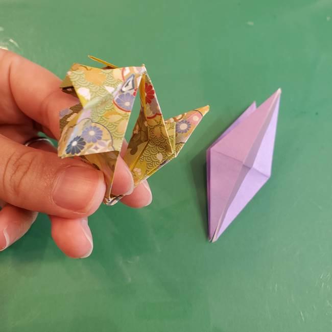 連鶴 稲妻の折り方作り方②折り紙を折っていく(16)