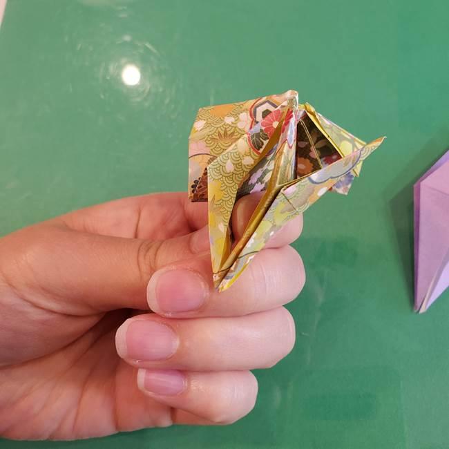 連鶴 稲妻の折り方作り方②折り紙を折っていく(17)