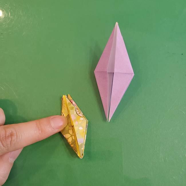 連鶴 稲妻の折り方作り方②折り紙を折っていく(18)