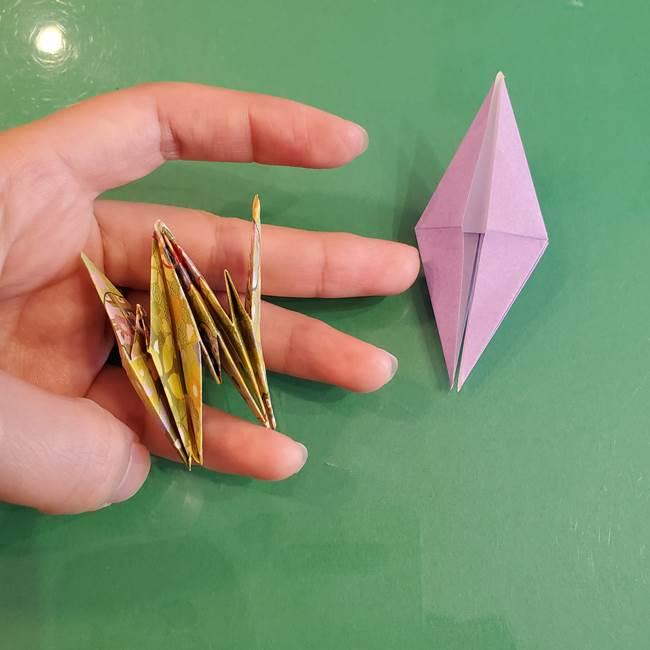 連鶴 稲妻の折り方作り方②折り紙を折っていく(19)