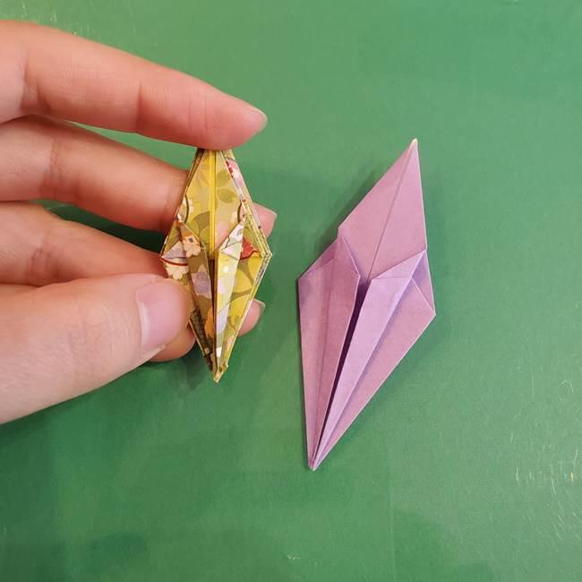 連鶴 稲妻の折り方作り方②折り紙を折っていく(20)