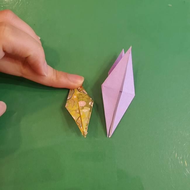 連鶴 稲妻の折り方作り方②折り紙を折っていく(21)