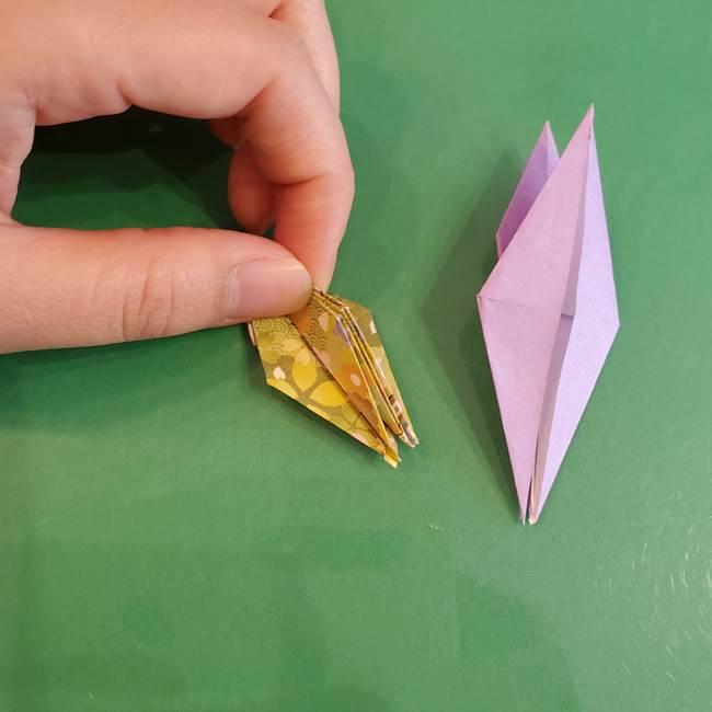 連鶴 稲妻の折り方作り方②折り紙を折っていく(22)