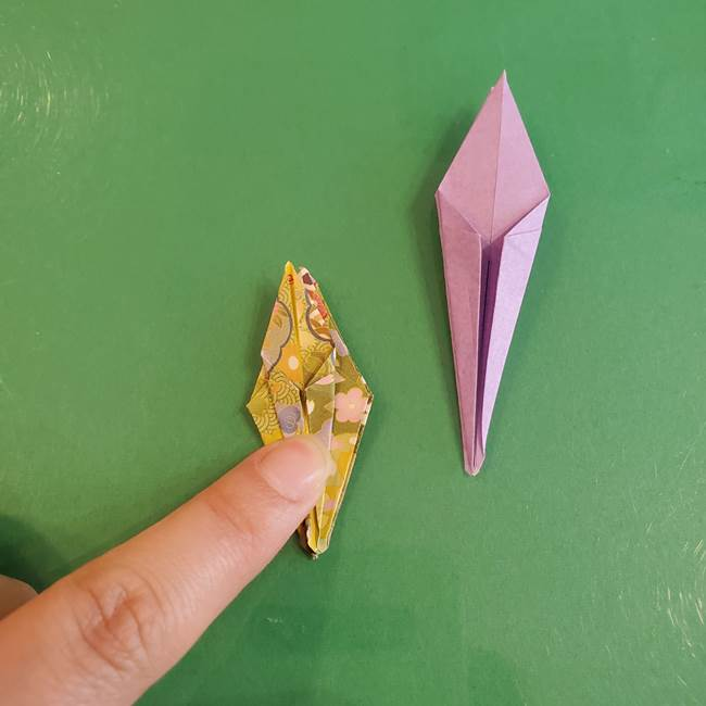 連鶴 稲妻の折り方作り方②折り紙を折っていく(24)