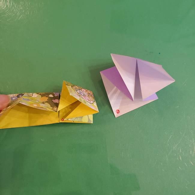 連鶴 稲妻の折り方作り方②折り紙を折っていく(3)