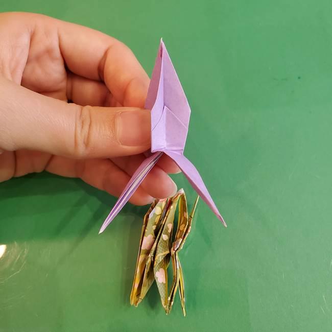 連鶴 稲妻の折り方作り方②折り紙を折っていく(30)
