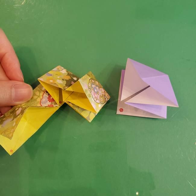 連鶴 稲妻の折り方作り方②折り紙を折っていく(4)