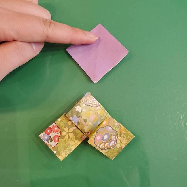連鶴 稲妻の折り方作り方②折り紙を折っていく(7)