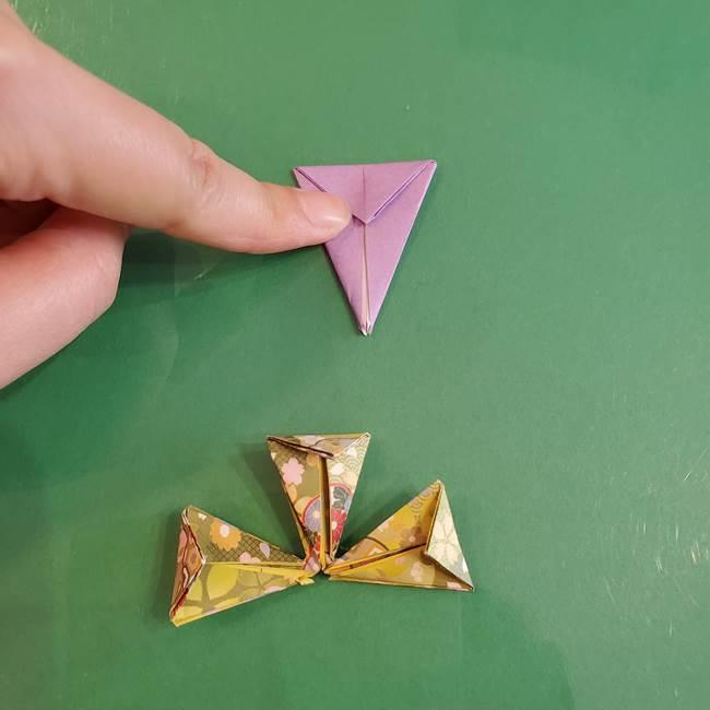 連鶴 稲妻の折り方作り方②折り紙を折っていく(9)