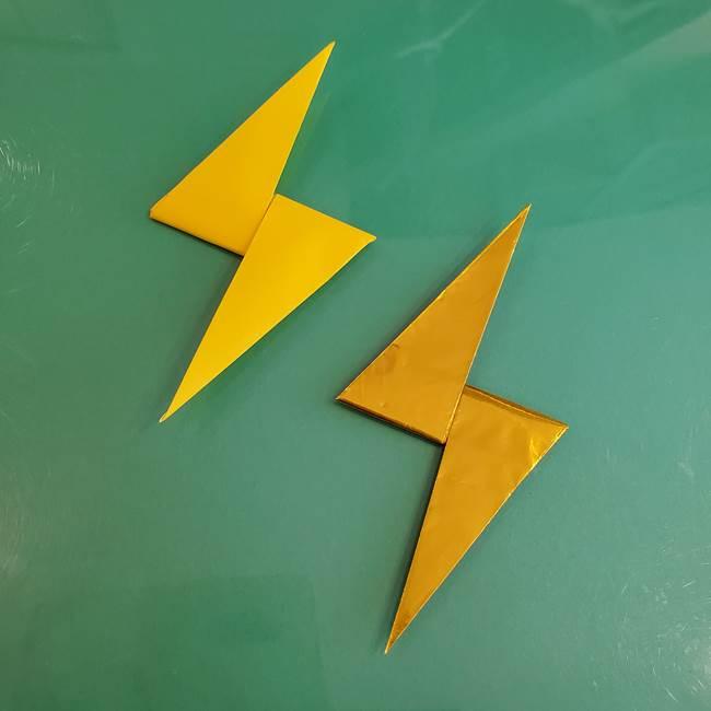 雷の折り紙の折り方作り方★簡単に稲妻マークを綺麗につくるコツとは?