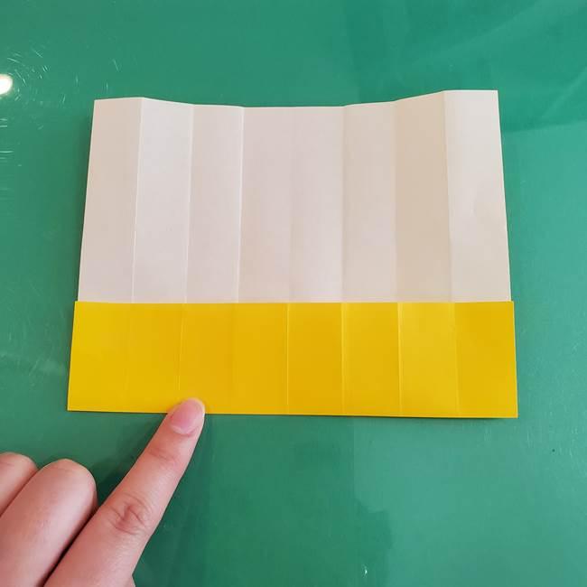 11月の折り紙 きのこの折り方 立体ver.①折り筋(10)