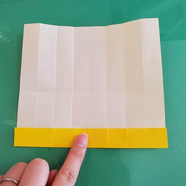 11月の折り紙 きのこの折り方 立体ver.①折り筋(12)