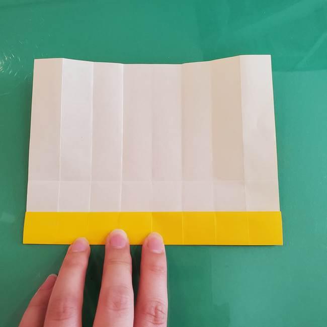 11月の折り紙 きのこの折り方 立体ver.①折り筋(13)