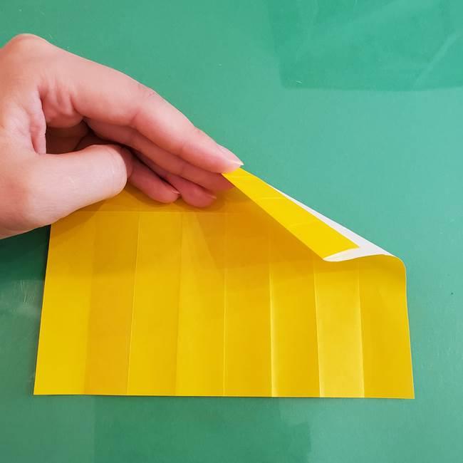 11月の折り紙 きのこの折り方 立体ver.①折り筋(14)