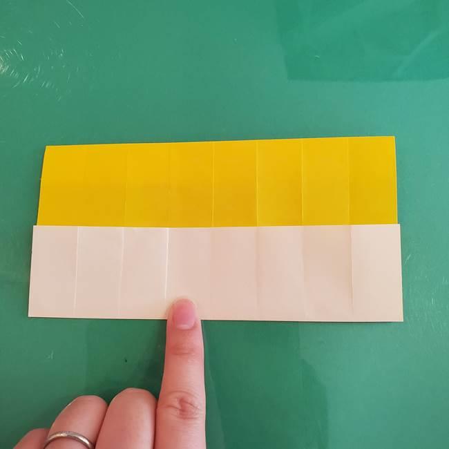 11月の折り紙 きのこの折り方 立体ver.①折り筋(15)