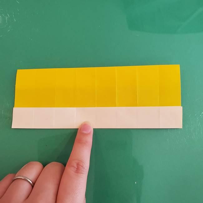11月の折り紙 きのこの折り方 立体ver.①折り筋(16)