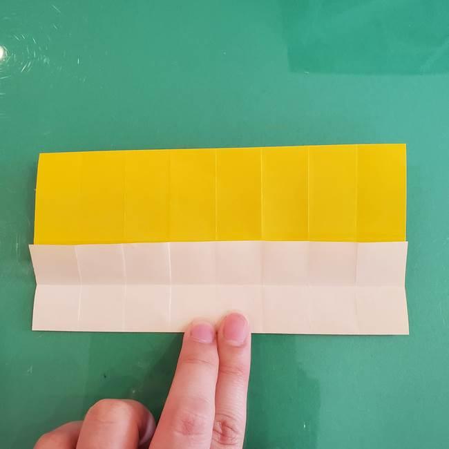 11月の折り紙 きのこの折り方 立体ver.①折り筋(17)