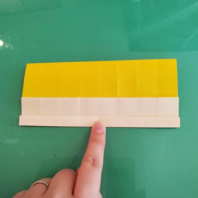 11月の折り紙 きのこの折り方 立体ver.①折り筋(18)
