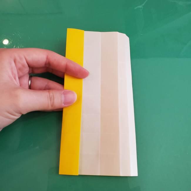 11月の折り紙 きのこの折り方 立体ver.①折り筋(20)