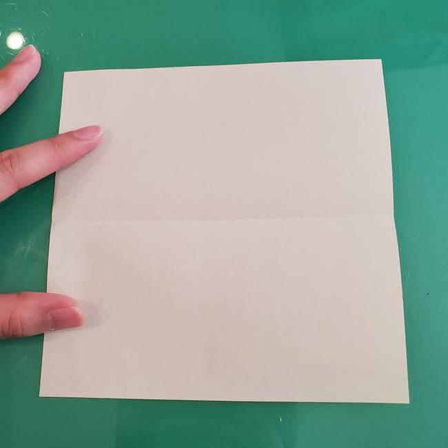 11月の折り紙 きのこの折り方 立体ver.①折り筋(3)