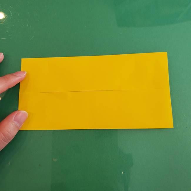 11月の折り紙 きのこの折り方 立体ver.①折り筋(4)
