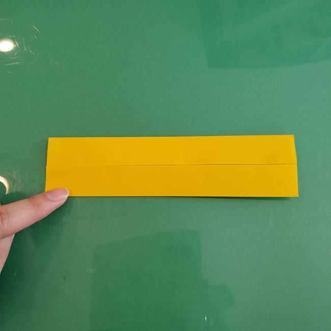 11月の折り紙 きのこの折り方 立体ver.①折り筋(5)