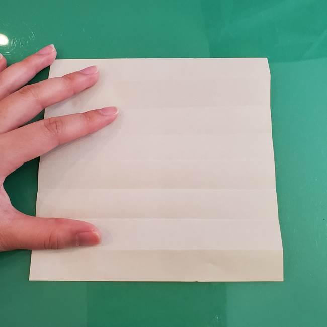11月の折り紙 きのこの折り方 立体ver.①折り筋(6)