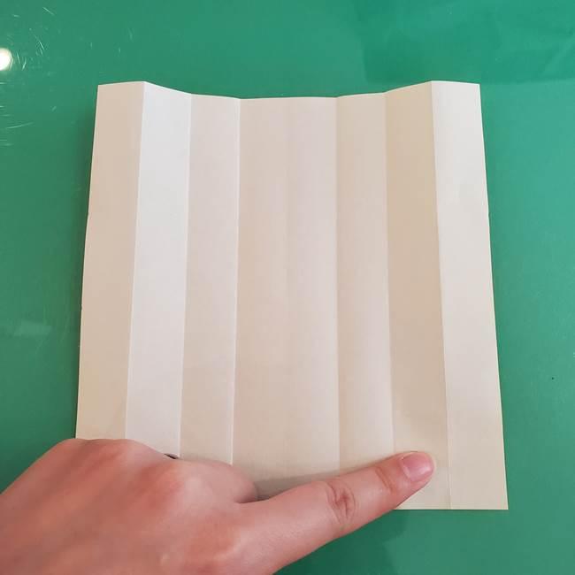 11月の折り紙 きのこの折り方 立体ver.①折り筋(7)