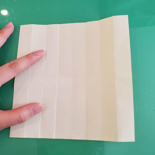11月の折り紙 きのこの折り方 立体ver.①折り筋(9)