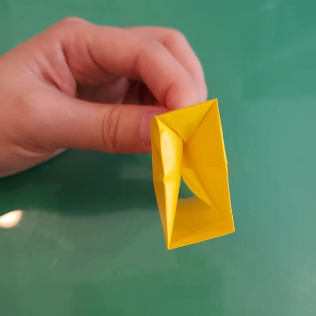 11月の折り紙 きのこの折り方 立体ver.②折る(12)
