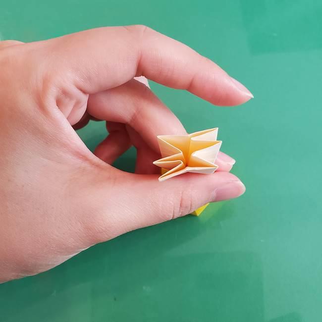11月の折り紙 きのこの折り方 立体ver.②折る(18)