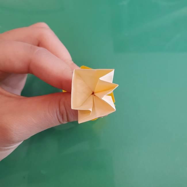 11月の折り紙 きのこの折り方 立体ver.②折る(20)