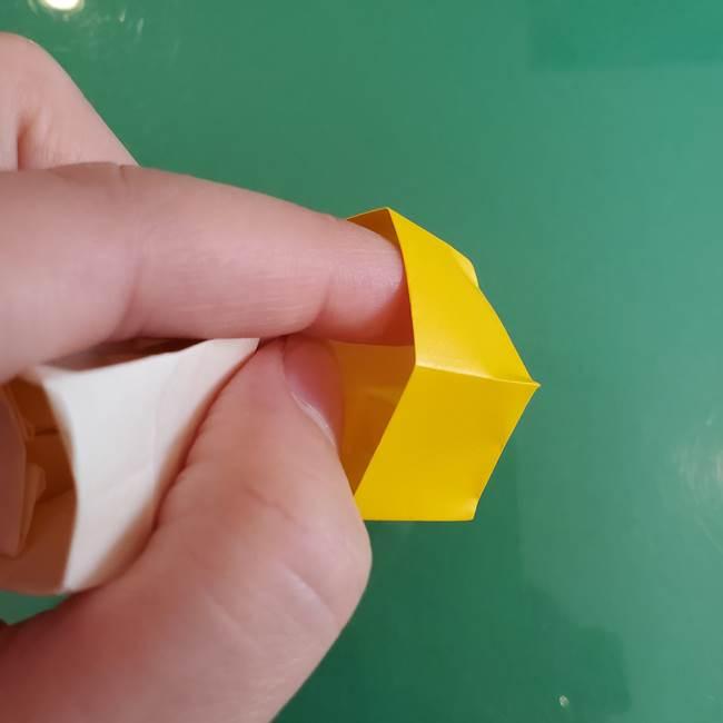 11月の折り紙 きのこの折り方 立体ver.②折る(25)